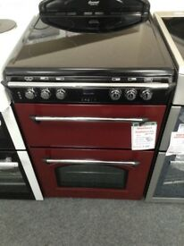 Red Leisure electric double oven. RRP £549. 12 month gtee