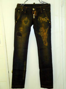 D SQUARED, A FRIEND NAMED JESUS JEANS VERY RARE. Size 28 NEW!