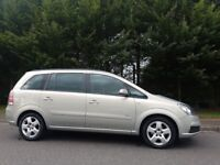 2009 58 Vauxhall Zafira a Semi Auto 7 Seater,FSH,leather seats