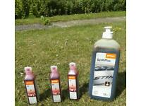 Oil for 2 stroke engine and chainsaw oil