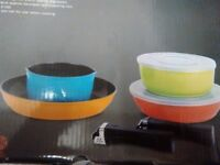 New Non Stick Nestable Pan Set With Lids & Detachable Handles Induction or gas Great Gift Camping