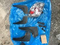 Various accessories for a Ford Fiesta mark 4/5