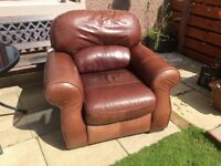 Leather armchair free