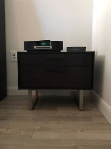 Graphite Oak Night Stand/Console Table