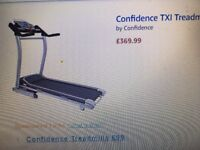 Confidence TXIheavy duty black treadmill