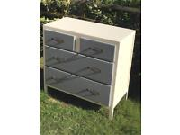 HAND PAINTED Chest of drawers (can deliver)