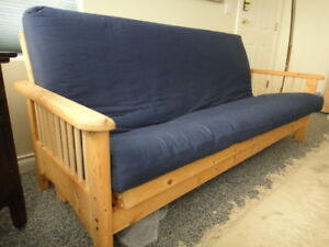PINE FRAME FUTON WITH MATTRESS
