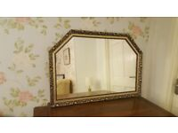Large Gilt Framed Over Mantle Mirror
