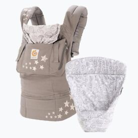 Ergo Baby Galaxy Grey baby carrier or sling with infant insert
