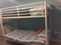 White metal bunk beds- tarbolton