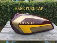 Honda cg125 fuel tank, lock kit, fuel tap, magneto stator kick shocks