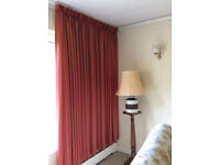 Gorgeous rust/red wide width lined curtains