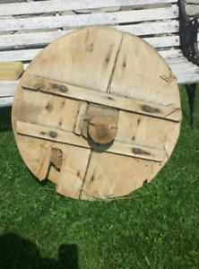 2 ft diameter wooden pulley