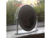 White oval adjustable dressing table mirror brand new