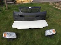 Vw T5 bonnet, headlights and bumper
