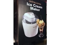 Andrew James Ice Cream Maker - White