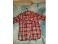 Red and Black casual smart shirt