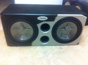 2 Clarion Subwoofers and Audiobahn Amplifier