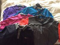 5 Nike and Addidas dri fit golf shirts xl