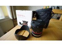 Slightly used, Samyang 12mm F2.0 Lens for Sony E-Mount - Black