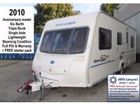 2010 BAILEY RANGER GT60 - 540/6 - LIGHT 6 BERTH - TRIPLE BUNK - STARTER PACK - WARRANTY