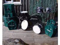 British Classic Jalapeno Birch Custom 6 piece Drum Kit with Set of Hardcaes & More