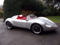 Porsche 718 RSK syder replica, built 2104 in top condition with very low mileage.