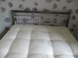 "Montana chrome frame 4'6"" double bed frame"