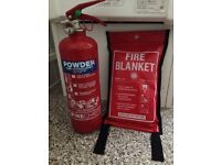 4kg Powder fire extinguisher (ABC) and fire blanket
