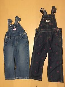 3T girls jean overalls