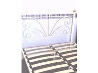 solid designer double bed can deliver