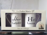 HIS & HERS Perfect Match Set of 2 Mugs