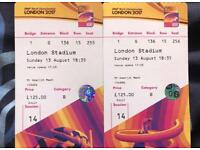 IAAF World Championships Final Day! Cat B tickets £250!