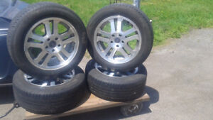 """17"""" mustang gt wheels with pirelli p0 tires EXCELLENT CONDITION"""