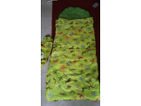 Kids Sleeping Bag - jungle pattern