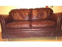 Laura Ashley chichester leather sofa