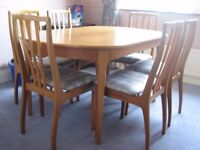 Dining room table & 6 Chairs by Nathan