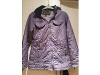 Genuine ladies purple barbour quilted coat