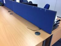 Multiple desk dividers - Blue