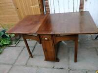 £10 vintage oak drop leaf gate leg dining table