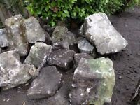 Purbeck Stone rockery rocks from 20Kg up to 200Kg+ (estimated).