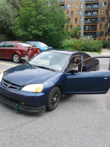 JUST REDUCED  2002 HONDA CIVIC LX  SPORTY  COUPE 5 SPEED  STICK