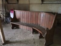Church Pew for sale .