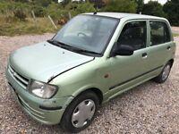 Daihatsu Cuore 989cc Petrol Automatic 5 door hatchback V reg 06/09/1999 Green