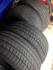4 x 205 55 16 Tyres, all legal, 2 excellent tread came from my Sons Honda Civic