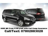 Uber XL Ready - Ford Galaxy - MPV - from £110 per/week - Only few cars Left - 07802883028