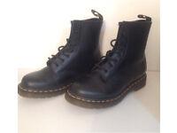 New Doc Marten Black Matt Boots Size 4