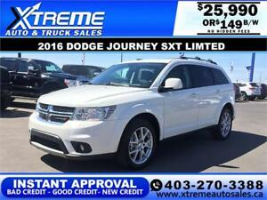 2016 Dodge Journey SXT Limited $149 b/w APPLY NOW DRIVE NOW