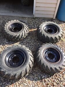 Tires and rims from a 570 Rzr