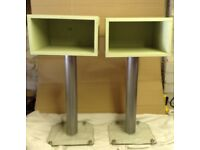 Pair of Bedside/Side/End Tables,Willow Green.